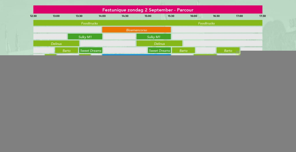 Pocketguide 2018 (met o.a. tijdschema en plattegrond)