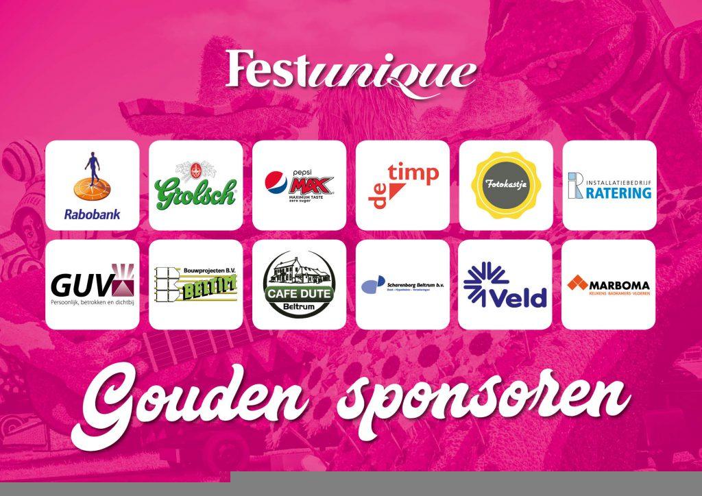 De 'gouden sponsoren' van Festunique