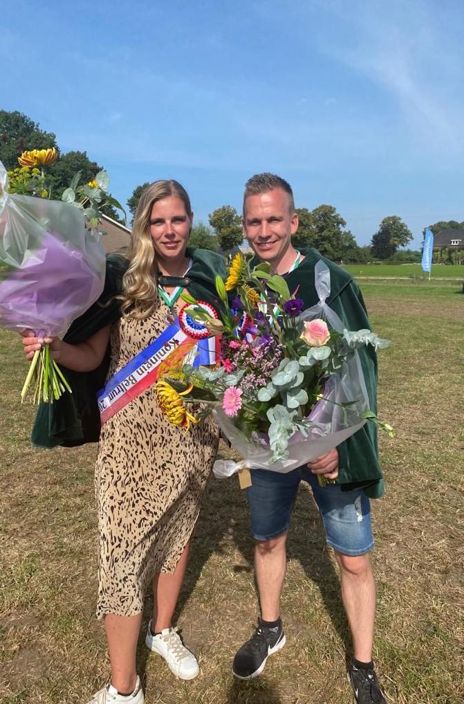 Daniëlle Stoverink en Ruud Westhoff koningspaar van Beltrum